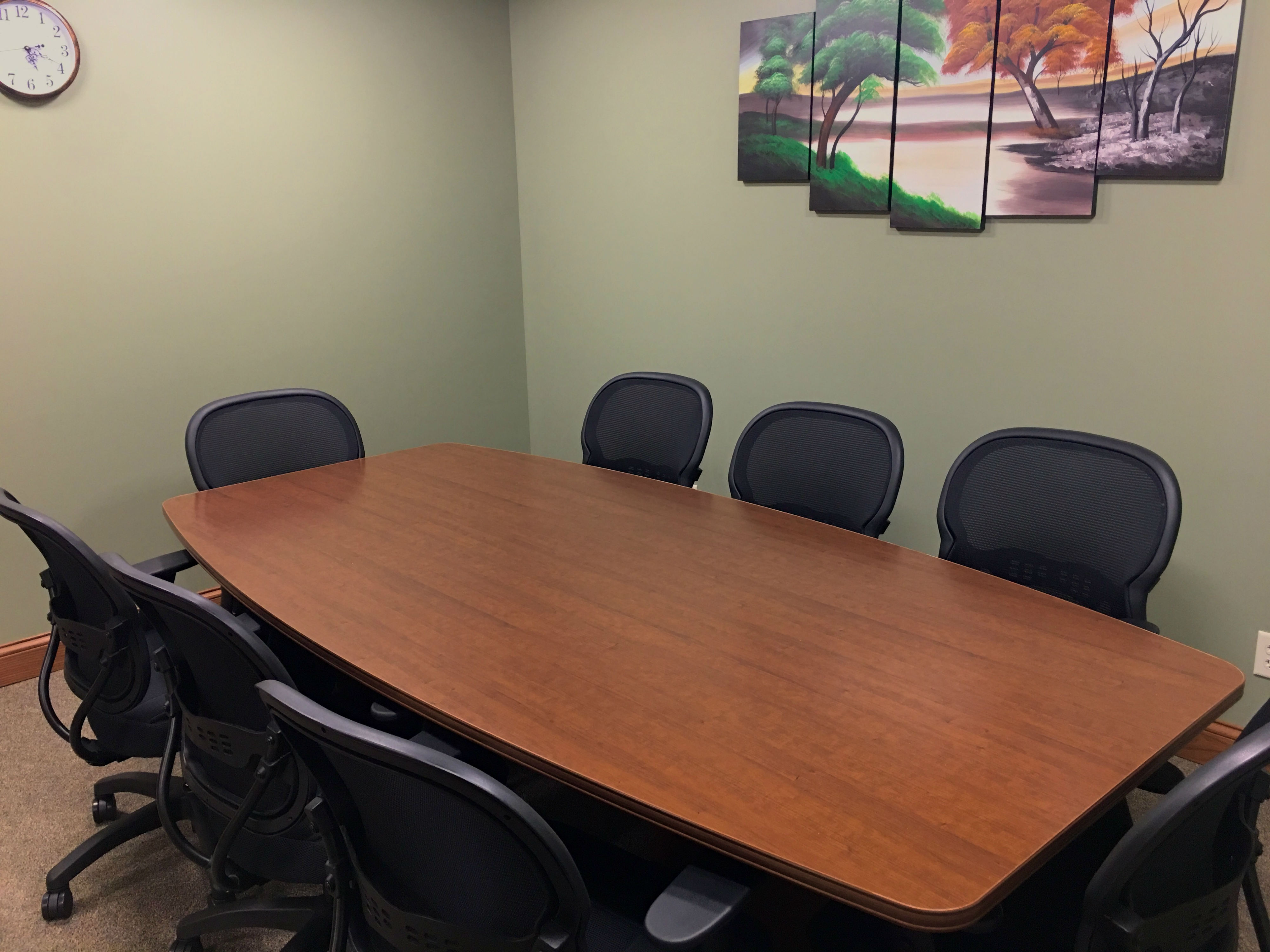 Our Small Conference Table with 8 Chairs